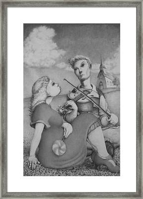 Fiddle Framed Print by Louis Gleason