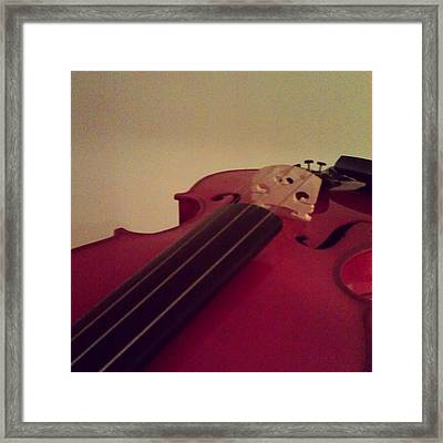 #fiddle #trad #violin #music #instagood Framed Print