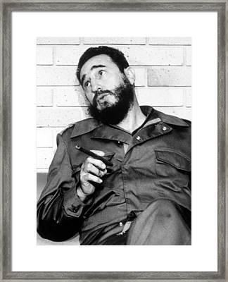 Fidel Castro, In 1974 Framed Print by Everett