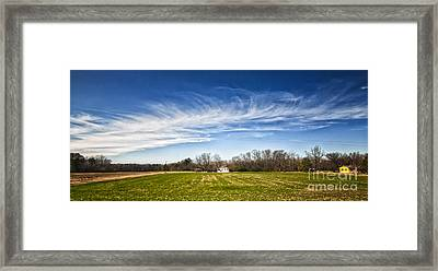 Framed Print featuring the photograph Field And Sky by Jim Moore