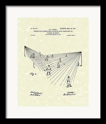Baseball Fields Drawings Framed Prints
