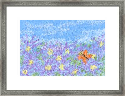 Field Of Asters - Impressionism Framed Print by Heidi Smith