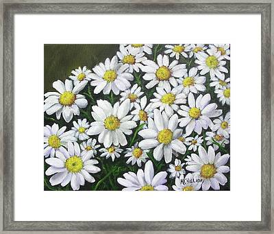 Field Of Daisies Framed Print by Mary Kay Holladay