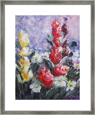 Field Of Flowers Framed Print by Don Hutchison