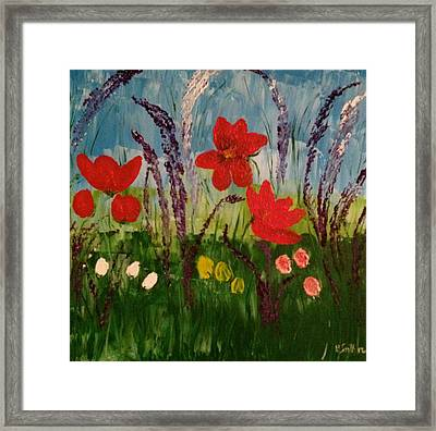 Field Of Flowers  Framed Print by Pretchill Smith