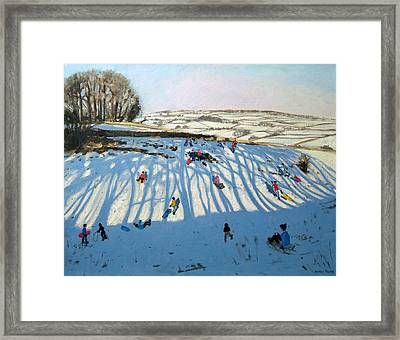 Fields Of Shadows Framed Print by Andrew Macara
