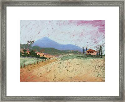 Fields Of Tuscany Framed Print