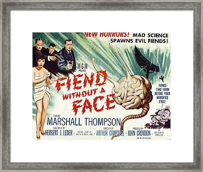 Fiend Without A Face, 1958 Framed Print by Everett