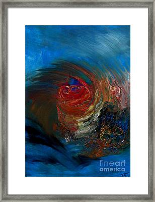 Framed Print featuring the painting Fierce by Ayasha Loya