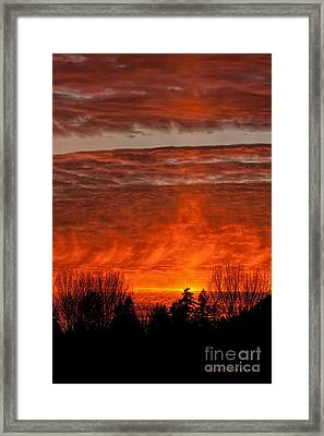 Fiery Abyss Framed Print