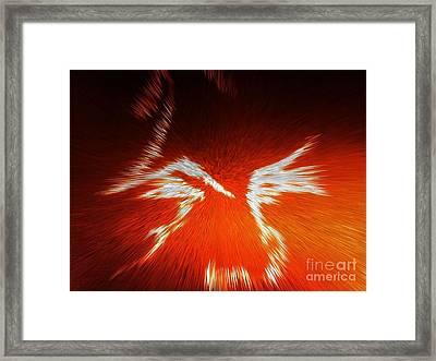 Fiery Angel Face Framed Print by Robert Haigh