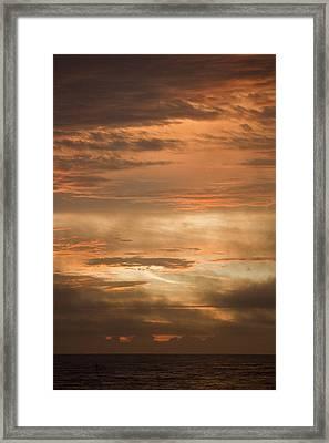 Fiery Atlantic Sunrise 2 Framed Print