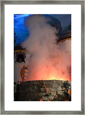 Fiery Entrance Framed Print by Bonnie Myszka