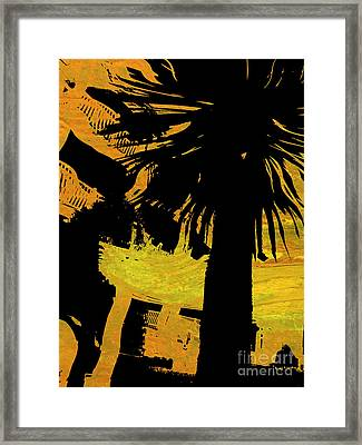 Fiery Night Framed Print