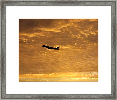 Framed Print featuring the photograph Fiery Skies by Alex Esguerra