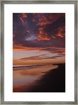 Fiery Skies Framed Print by Sandy Fisher