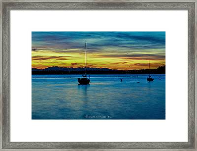 Fiery Sky Framed Print by Sarai Rachel