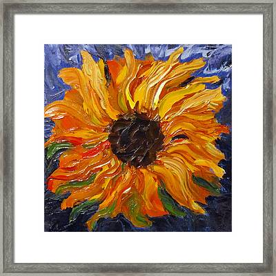Fiery Sunflower Framed Print