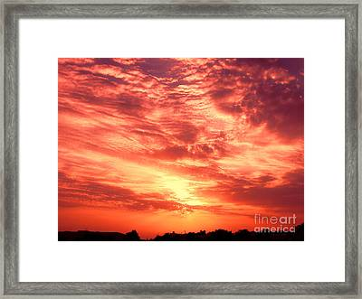 Fiery Sunrise Framed Print by Graham Taylor