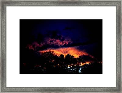 Fiery Sunset Framed Print by Frank DiGiovanni