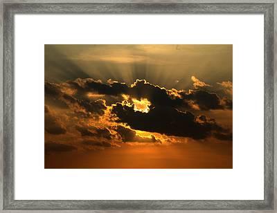 Fiery Sunset Framed Print by Nabil Kannan