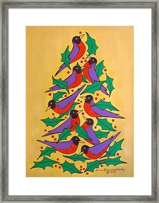 Fiesta Of Robins Framed Print