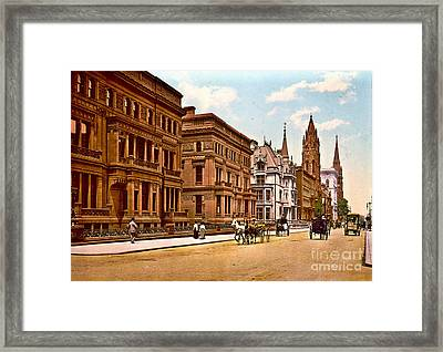Fifth Avenue And 51st Street New York City 1900 Framed Print by Padre Art