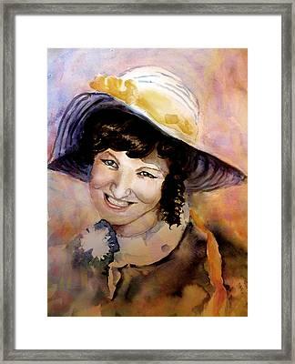 Fifties Girl Framed Print