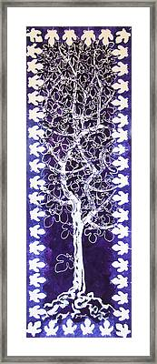 Fig Tree And Moonlight Framed Print by Alain Guiguet