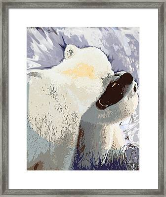 Fighting Bears Framed Print