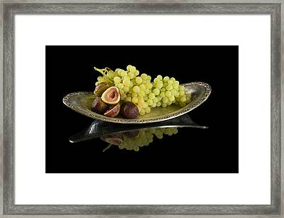 Figs N Grapes Framed Print
