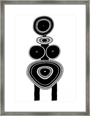 Figure - Primitive Art Framed Print by Michal Boubin