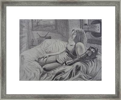Angst Of Patience Framed Print by Casey P