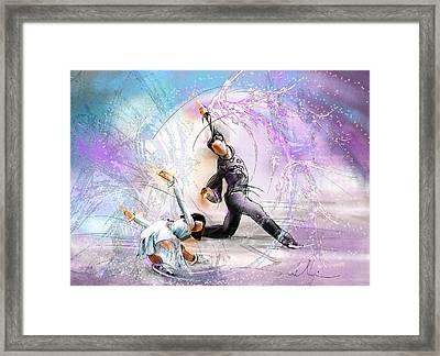 Figure Skating 02 Framed Print by Miki De Goodaboom