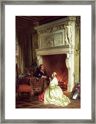 Figures In An Interior  Framed Print by Ary Johannes Lamme