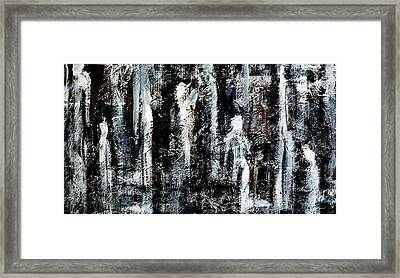 Figures In The Forest Framed Print by Chad Rice