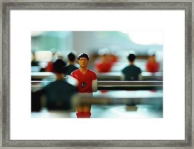 Figurine Of Football Player Framed Print by D.Reichardt