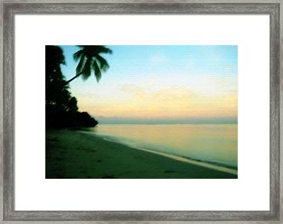Fiji Calling Framed Print by Saad Hasnain