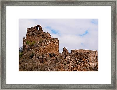 Framed Print featuring the photograph Filakovo Hrad - Castle by Les Palenik
