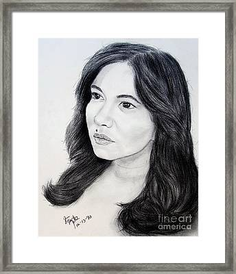 Filipina Beauty And Actress Lorna Tolentino Framed Print by Jim Fitzpatrick