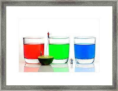 Filling Rgb Lemonade Framed Print by Paul Ge