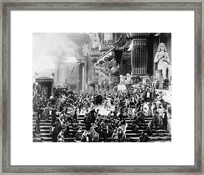 Film: Intolerance, 1916 Framed Print by Granger