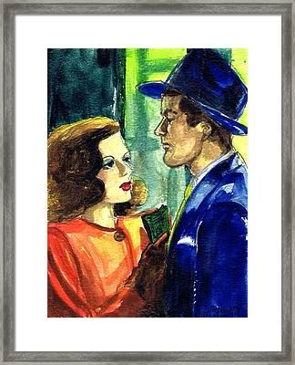 Film Noir Framed Print by Mel Thompson