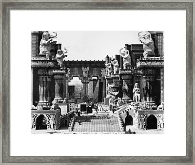 Film Set: Intolerance, 1916 Framed Print
