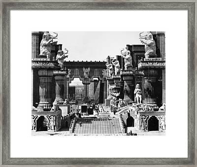 Film Set: Intolerance, 1916 Framed Print by Granger