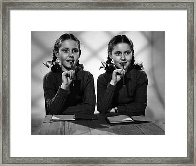 Film Star Twins Framed Print by Maurice Ambler