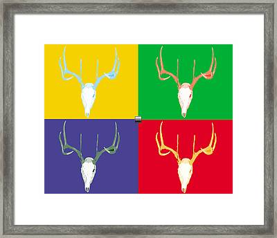 Filtered Deer Framed Print by John Mathias