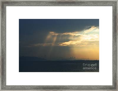 Filtered Light Through San Francisco Skyline Framed Print by Wingsdomain Art and Photography