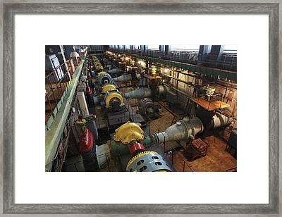 Filtration Pumping House Framed Print