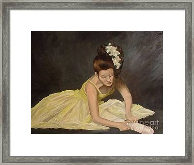 Framed Print featuring the painting Final Preparations by Julie Brugh Riffey